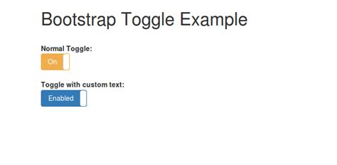 Bootstrap switch toggle example from scratch - HDTuto