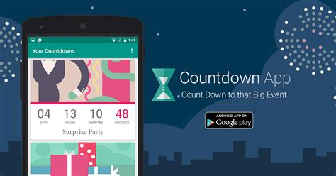 Countdown App by timeanddate
