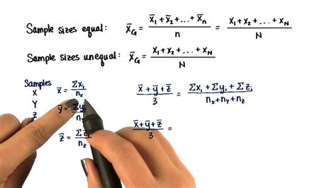 Grand Mean - Intro to Inferential Statistics - YouTube