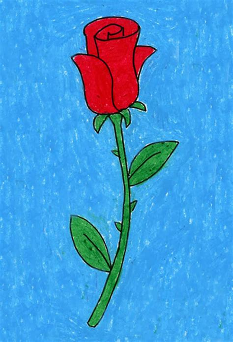 Draw a Rose · Art Projects for Kids
