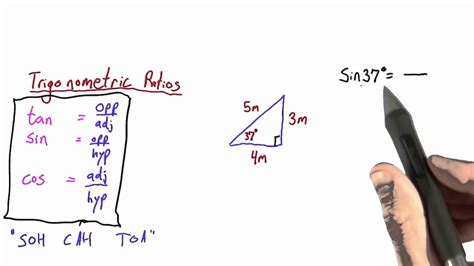 Using Sin, Cos, and Tan - Intro to Physics - YouTube