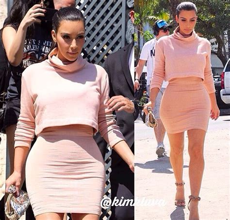 High waisted skirt and crop turtle neck all in peach/baby