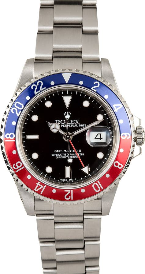 Rolex Red and Blue Pepsi GMT-Master II 16710