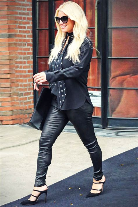 Jessica Simpson out and about in New York - Leather
