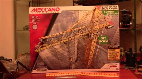 MECCANO MAKER SYSTEM TOWER CRANE SET REVIEW (2015) - YouTube