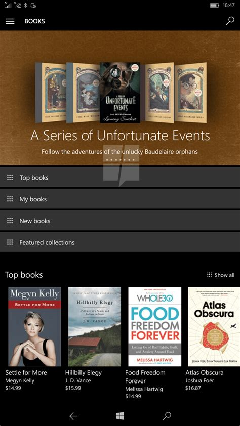 First look at Windows 10's upcoming store for e-books
