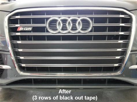 SQ5 Mod: Front License Plate Removed & screw holes covered