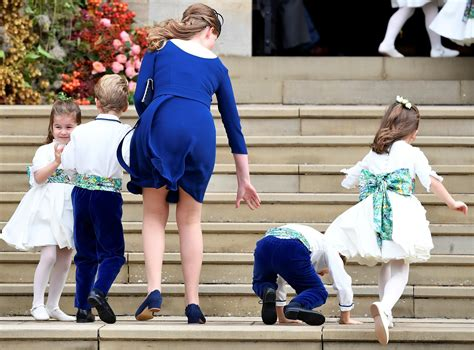 Royal Wedding page boy trips on way into St George's