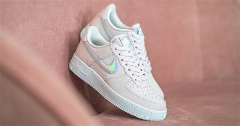 """Iridescent-Swooshed Nike Air Force 1 Low """"Barely Rose"""" is"""