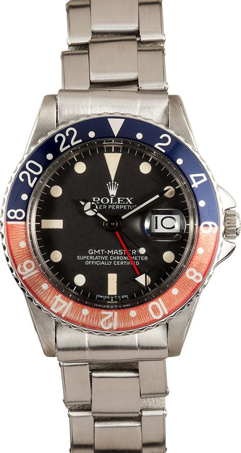 Rolex GMT-Master 1675 PCG With Faded Pepsi Bezel 1963
