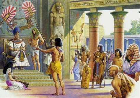 Ancient Egyptian life on the banks of the Nile River