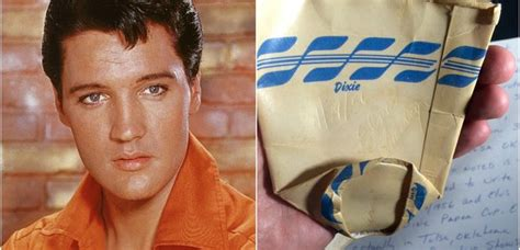 Elvis Presley's used paper cup from 1956 is being sold