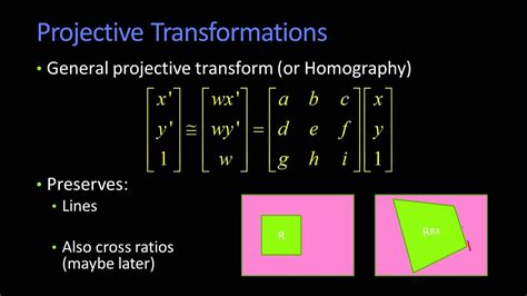 Projective Transformations - YouTube