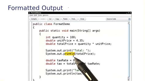 Formatted Output - Intro to Java Programming - YouTube