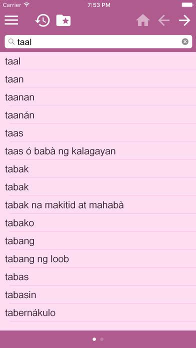 English Tagalog Dictionary Free for iOS - Free download