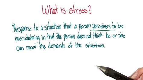 Definition of stress - Intro to Psychology - YouTube