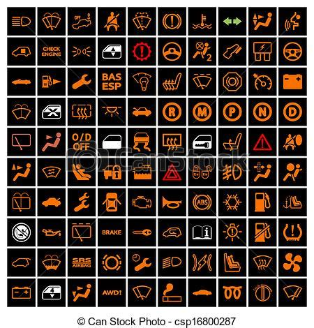 Vector of Car Dashboard Icons