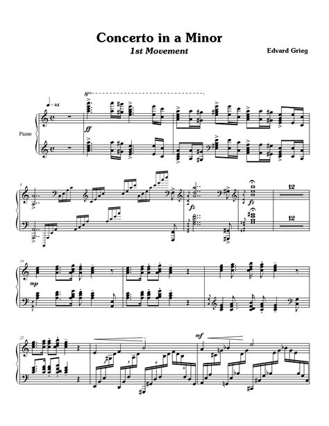 Grieg: Piano Concerto in A minor   Ted's Piano World