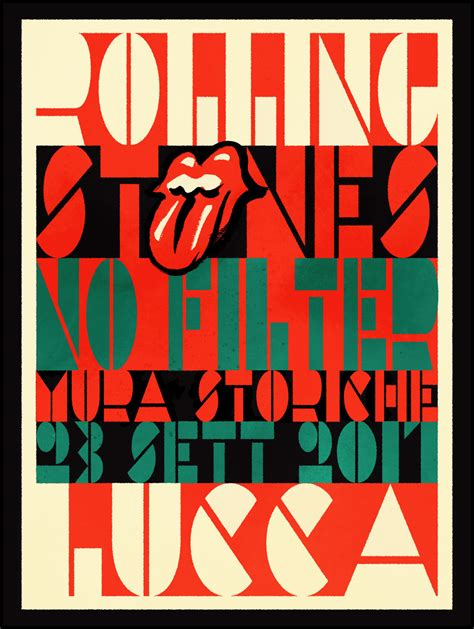 XIII Design, LLC - Rolling Stones - Lucca, Italy Event Poster