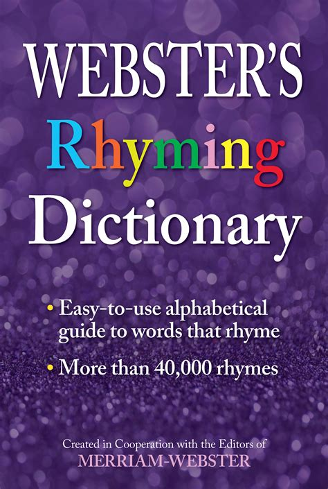 Webster's Rhyming Dictionary   Federal Street Press